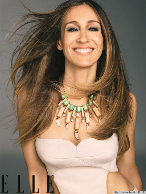 "SJP posing for the cover of the annual ""Woman In Hollywood"" in the November 2012 issue of Elle. Photo: www.huffingtonpost.com."