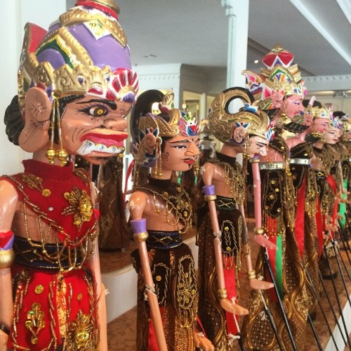 Wayang puppets at Bengawan Solo Restaurant represent different personalities. Which one are you?