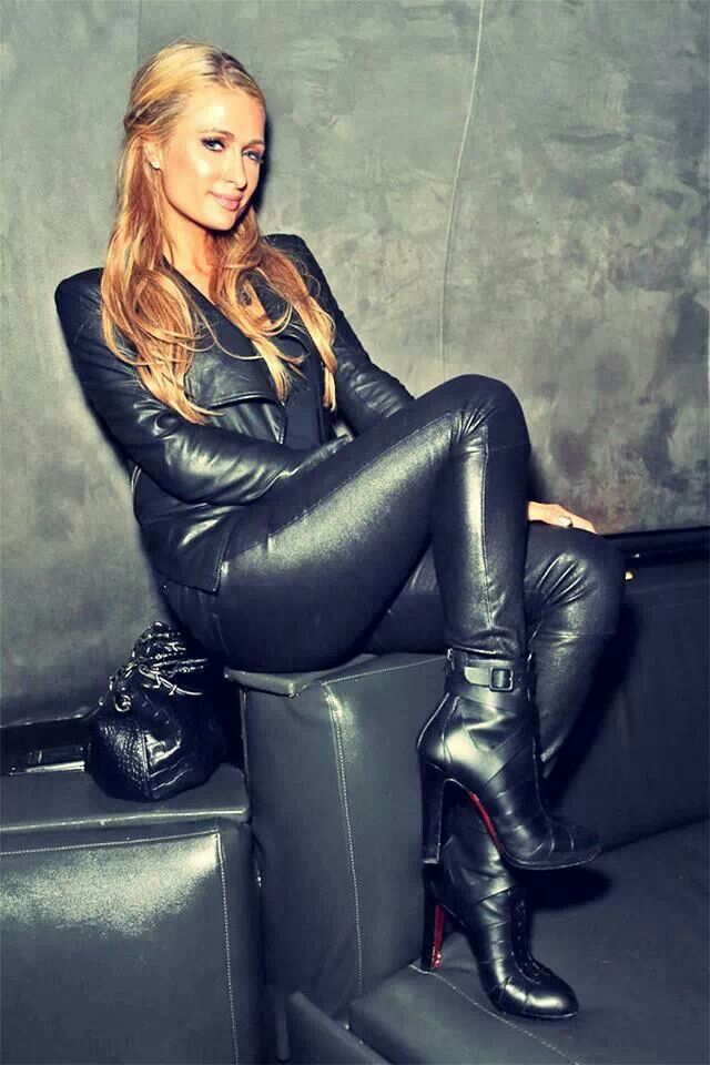 Sexy Ms. Paris with her black leather boots. Photo: pinterest.com.