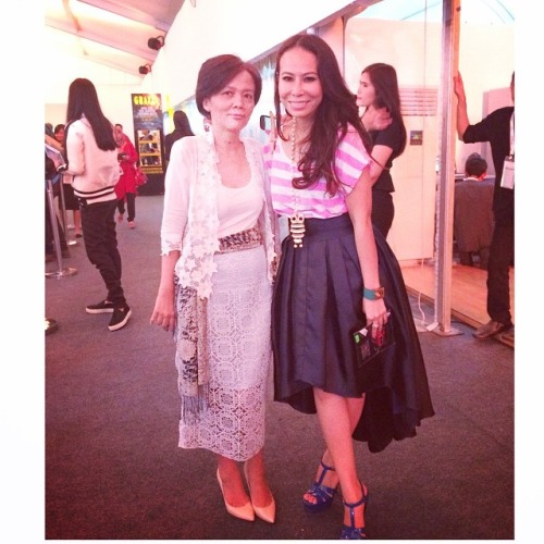 Posing with one of my fashion heroes, Femina's Chief Editor, Petty S. Fatimah