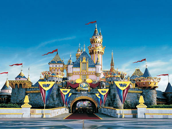 "Disneyland, ""The happiest place on earth""."