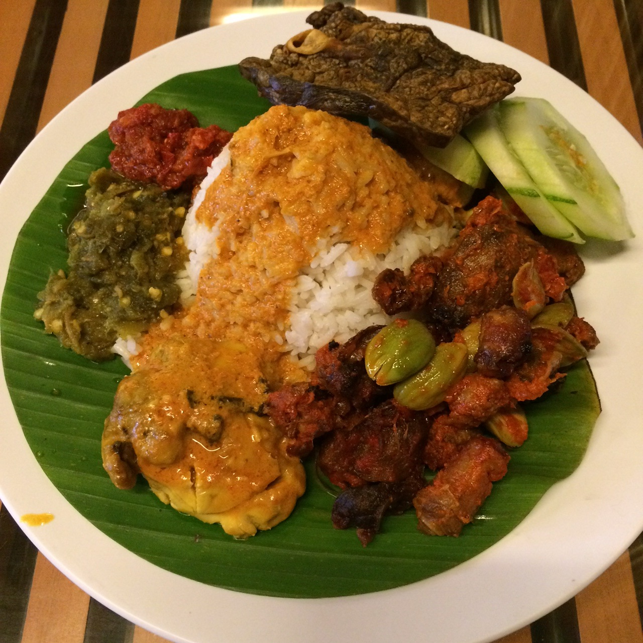 Nasi Padang komplit. Need I say more?
