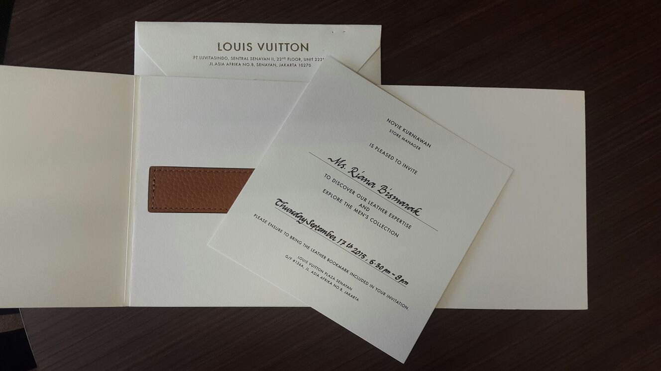 Personalized invitation from LV