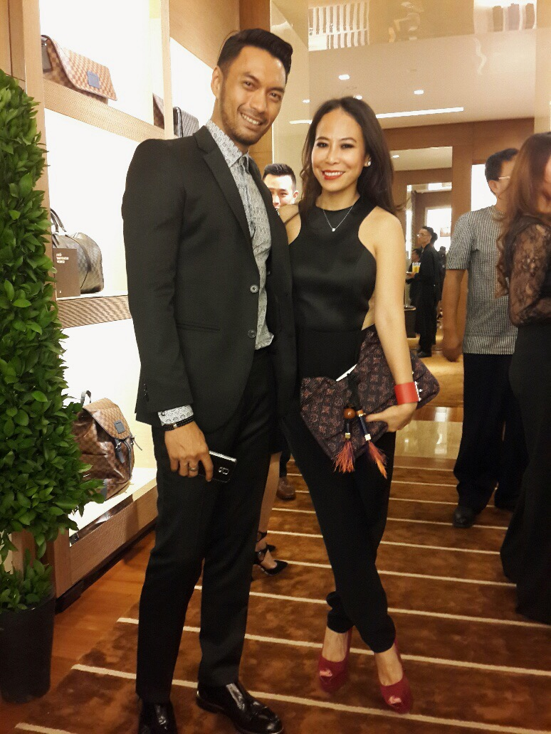 With my friend Aurellio Kaunang, Louis Vuitton's Communication Manager. Thank you for the invitation!