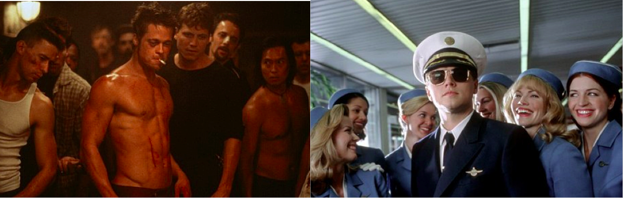 Siapa bad boy favoritmu di layar lebar: Brad Pitt di Fight Club atau Leonardo DiCaprio di Catch Me If You Can?
