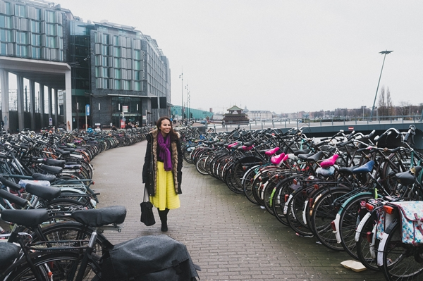 In the middle of bicycle sea
