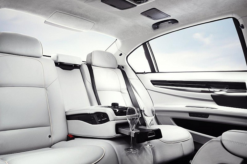 The back seat. Designed for total luxury.