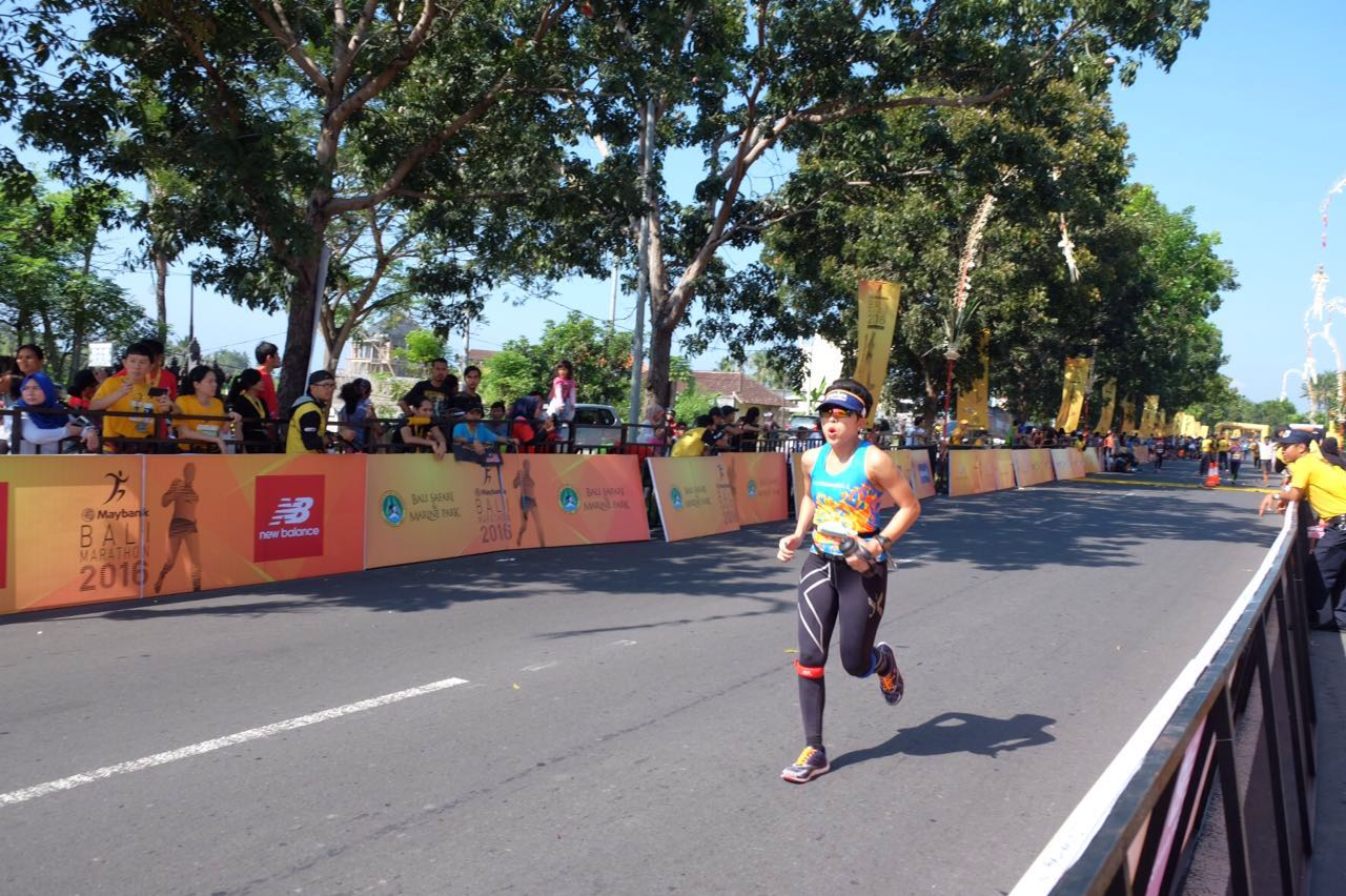 Bali Marathon 2016. Finished as 4th Female Master.