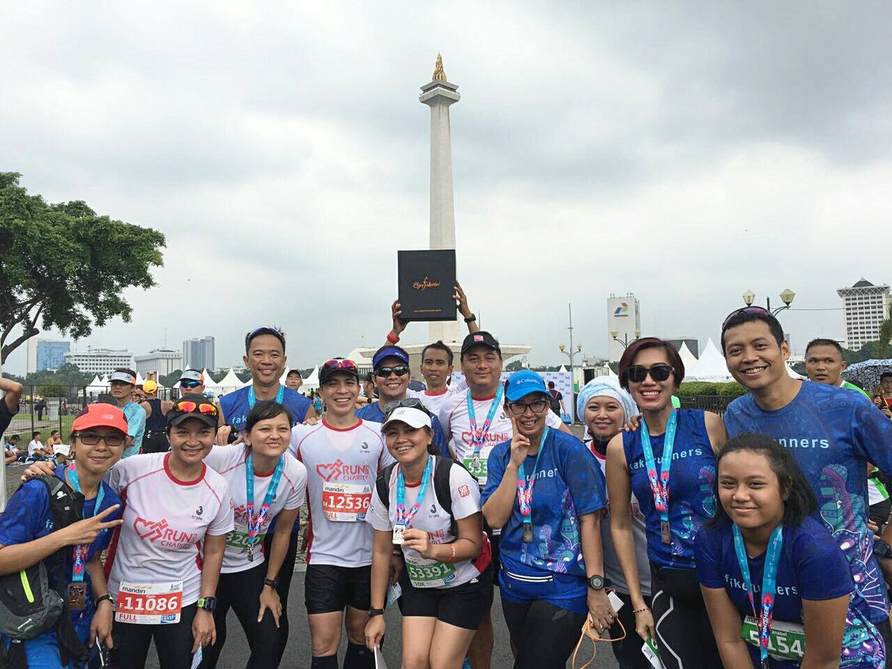 Jakarta Marathon, my third full marathon. I participated as a runner for a movement called Run For Charity, the official charity partner for the event.