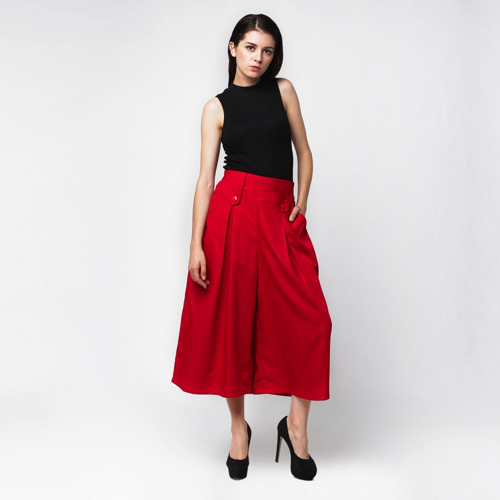 Two button palazzo pants