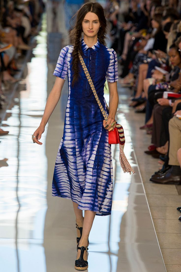 Shibori dalam Tory Burch Spring 2013 Collection
