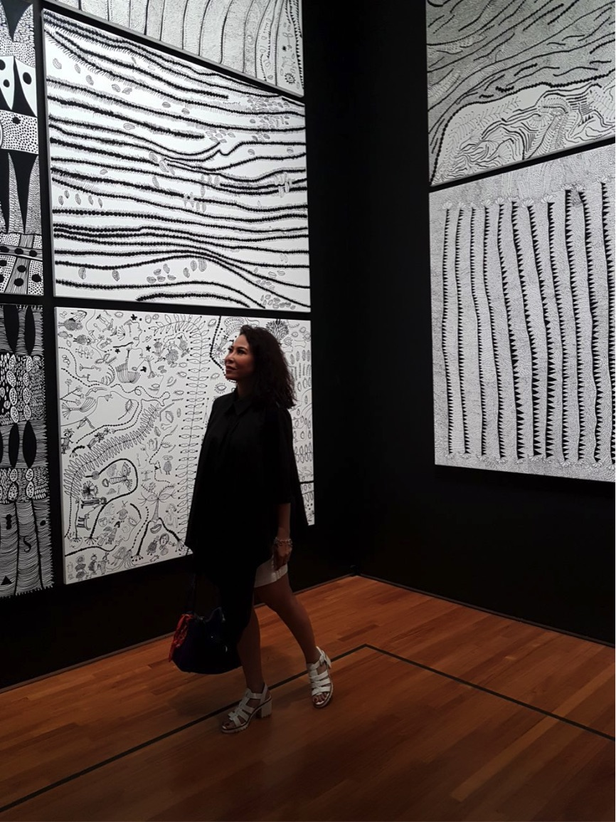 Kusama's monochrome exhibits. Love it.