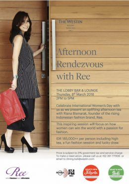Afternoon Rendezvous with REE at The Westin Resort  Bali